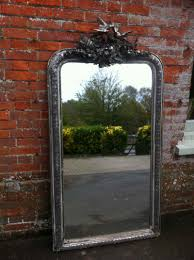 Ornate Mirrors Early 19th Century Large French Silvered Ornate Mirror Antique