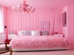Little Girls Bedroom Curtains Luxury Pink Shag Bedding With Chandelier And Decorative Pillows