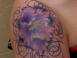 27 colorful hibiscus flower tattoos