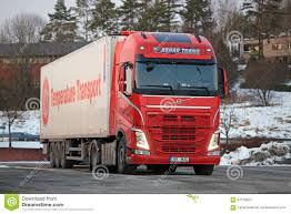 volvo semi truck models red volvo fh semi at truck stop editorial stock image image