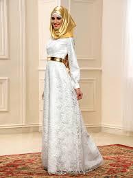 muslim wedding dress a line lace sleeve muslim wedding dress with gold
