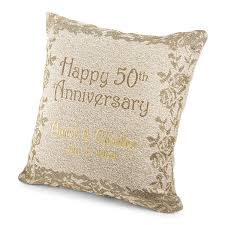 50th anniversary plates you can engrave personalized 50th anniversary pillow