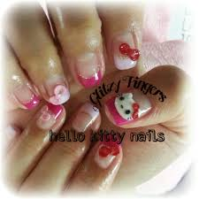 hello kitty glitzy fingers