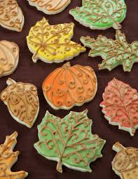 fall thanksgiving cookie decorating