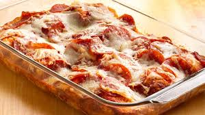 4 ingredient pizza bake recipe bettycrocker com