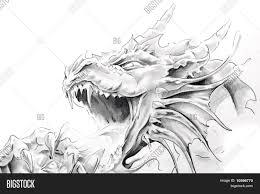 tattoo art sketch medieval dragon image u0026 photo bigstock