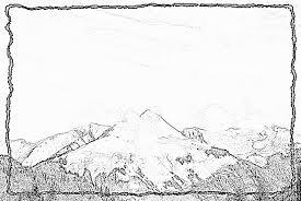 Coloriage Montagne Les Gets à imprimer pour les enfants  Dessin