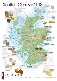 Map Scotland Clarks Speciality Foods Scottish Cheese Map