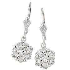 leverback diamond earrings midwest diamond distributors leverback earrings