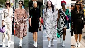 white boots were everywhere on day 4 of new york fashion week