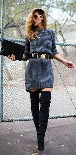 dresses with boots 20 style tips on how to wear a sweater dress this winter gurl