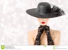 woman in hat and gloves fashion model beauty portrait