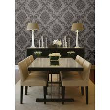 beacon house 56 sq ft sebastion grey damask wallpaper 450 67362