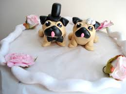 bulldog cake topper pug cake toppers wedding keepsake cake decoration wedding decor