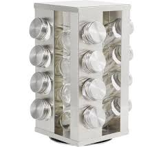Revolving Spice Rack 20 Jars Buy Home 16 Jar Stainless Steel Revolving Spice Rack At Argos Co