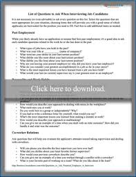 most questions in job interview questions to ask a potential employee in an interview lovetoknow