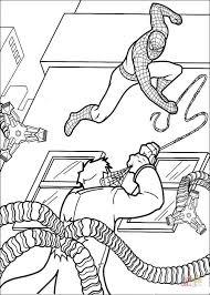 spider man shoots face doctor octopus