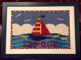 sailboat needlepoint needlepoint kits and canvas designs