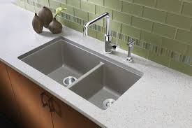 Blanco Kitchen Faucet Reviews Silgranit Sinks For Blanco Andhen Faucet With Quartz Countertops