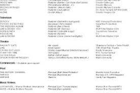 Sample Beginner Acting Resume by Beginner Acting Resume S Reentrycorps