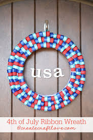 4th of july ribbon wreath create craft