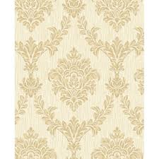 fine decor richmond damask textured glitter wallpaper soft cream