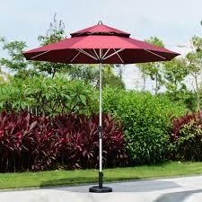 Sun Umbrella Patio 2 7 Meter Brushed Aluminum Outdoor Sun Umbrella Patio Covers