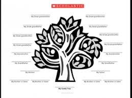 family tree template tree parents scholastic com