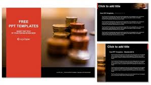 coins on the table powerpoint templates