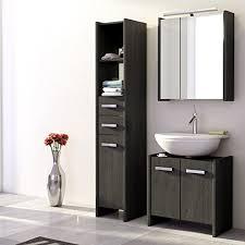 badezimmer set günstig landhaus badezimmer set massiv grau badezimmermöbel spiegelschrank