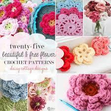 Free Pattern For Crochet Flower - 25 free flower crochet patterns daisy cottage designs