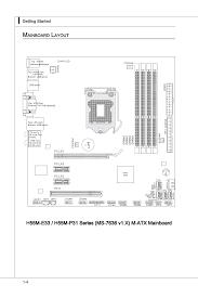 mainboard layout ma nboard layout 4 ainboard msi h55m e33