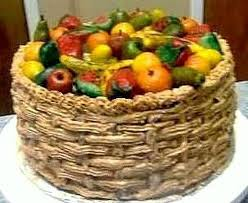 how to make a fruit basket of fruit basket cake this was a blast to make flickr