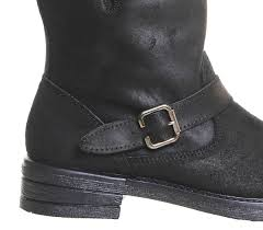 short biker boots office igloo buckle biker boots black suede ankle boots