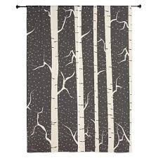 Shower Curtain With Tree Design Birch Tree Design Curtains 84 In Black And Tan