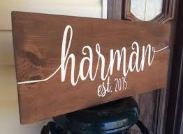 last name wood sign custom personalized established est year