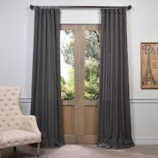 Heavy Grey Curtains Buy Slate Grey Heavy Faux Linen Curtains Panel