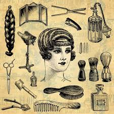 old fashinoned hairdressers and there salon potos hair salon mens haircut beauty and barber design elements
