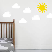 children s weather wall sticker by little chip small white