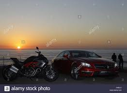 mercedes motorcycle motorcycle ducati diavel and mercedes cls 63 amg red musclebike