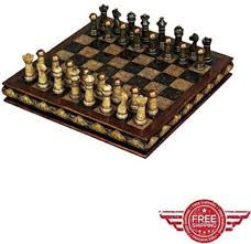 decorative chess set carved deluxe vintage luxury artistic old