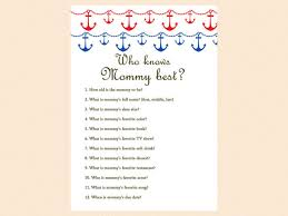 who knows baby shower who knows best best nautical baby shower