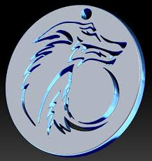 tribal wolf moon pendant version 2 by vargulfen on deviantart