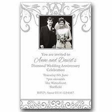60th wedding anniversary invitations anniversary invitation cards ebay