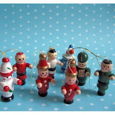Wooden Toy Christmas Tree Decorations - vintage wooden christmas ornaments lizardmedia co