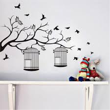 birdcage branch wall sticker baby nursery removable vinyl home birdcage branch wall sticker baby nursery removable vinyl