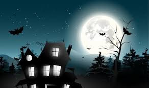 holiday halloween scary house horror creepy full moon castle trees