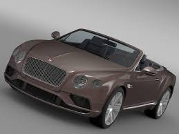 bentley 2015 bentley continental gt v8 convertible 2015 3d model vehicles 3d