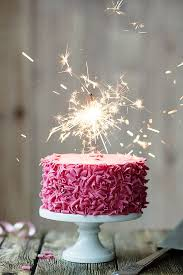 birthday cake sparklers pink celebration cake with sparkler by ruth black all things