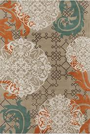 Orange And Blue Area Rug Chandra Rugs Stella Area Rug 60 Inch By 90 Inch